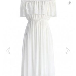 White Off the shoulder Maxi Dress